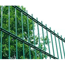 Galvanized and PVC coated Double wire mesh fence